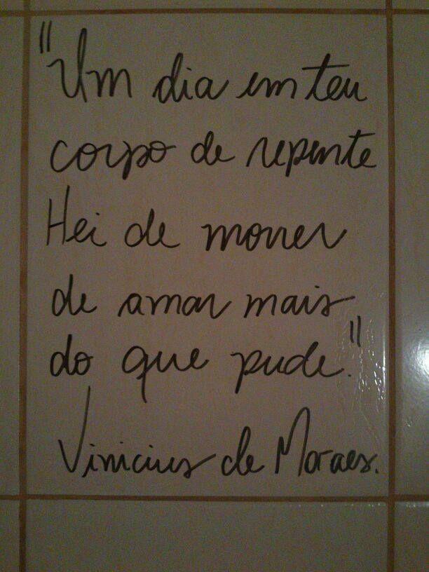 19/10/2013: 100 anos de nascimento de Vinícius de Moraes. Salve o poetinha!