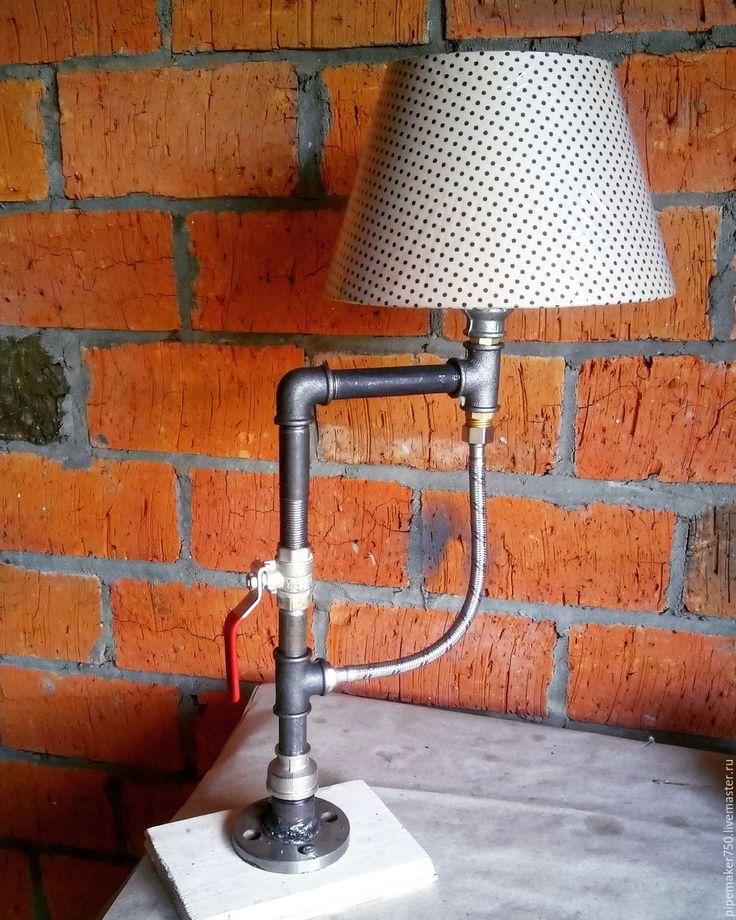 Купить Лампа из водопроводных труб Loft/Industrial #9 - серебряный, стимпанк…