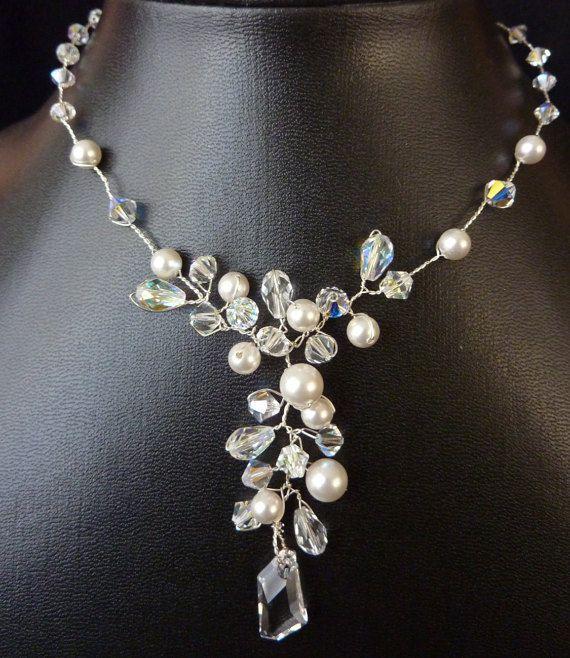 Bridal Necklace Wedding Necklace Wedding Jewelry by glamourbysonja