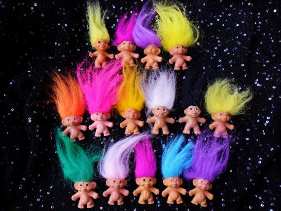Vintage Retro 80s 90s Troll Doll Collectible Toy