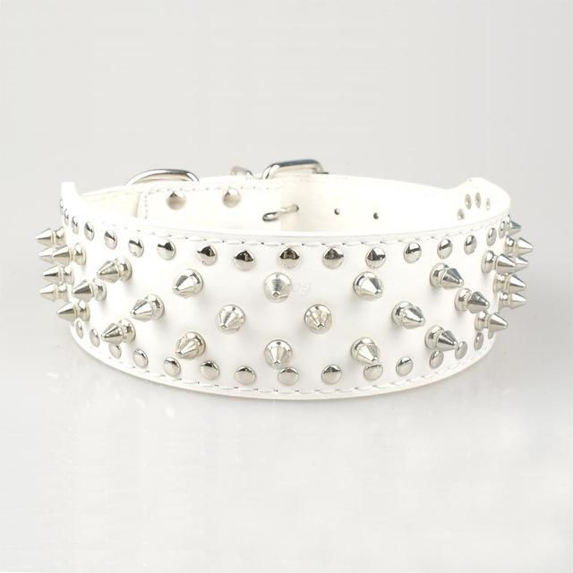 Collar- 2 inch Wide Spiked Dog Collar Studded for Medium Large Breed