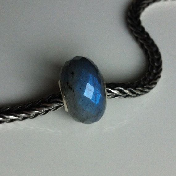 Natural Labradorite gemstone bead for Pandora or от WiseOwlBead