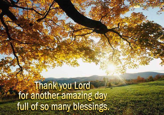 Thank You Lord for another amazing day full of so many blessings!