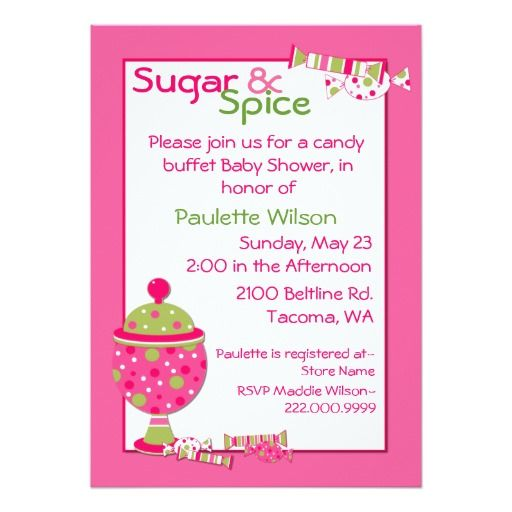 327 best candy baby shower invitations images on pinterest | baby, Baby shower invitations