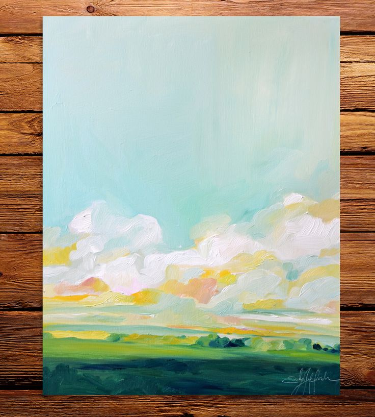 From The Valley Art Print | Emily Jeffords Studio » Such beautiful colors.