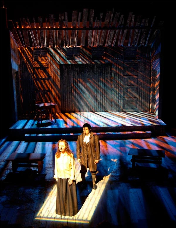The Crucible @ Henderson State Univ.  in Scene Design & Stage Lighting 9th ed. pg 52.4A--Scenic & Lighting Design by Douglas Gilpin