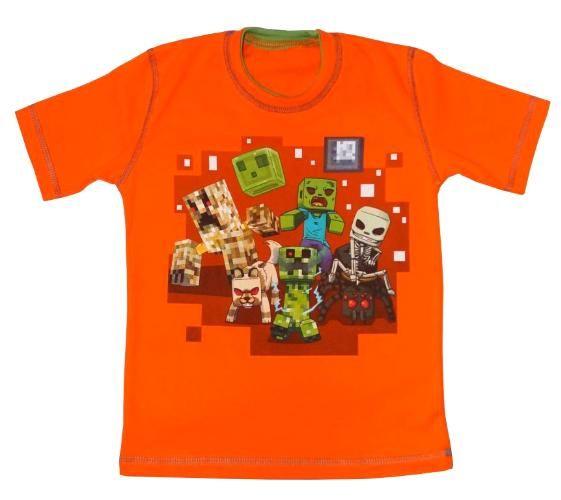 T-shirt miłośniak MINECRAFT'a r.116 wiosna/lato PL