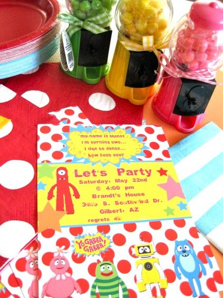 """birthday party, Yo Gabba Gabba party, yo gabba gabba theme                           3 Responses to """"TRENDS: Yo Gabba Gabba Birthday Parties on Catch My Party""""                      Kim says:      October 26, 2010 at 2:19 pm    So fantastic! Love all the colors and those buckets!"""