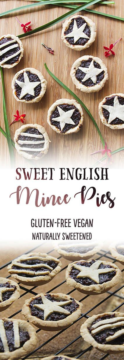 Gluten-free vegan sweet mince pies - traditional english sweet treat for the festive season.