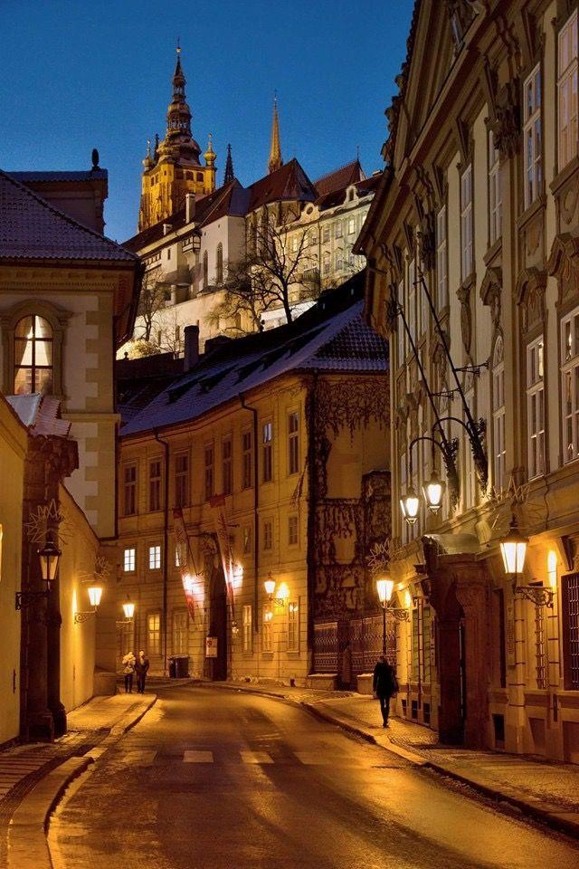 Night walk in Lesser Town, Prague, Czechia