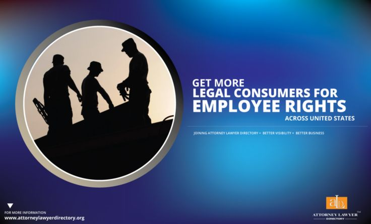 Get More Legal Consumers for employee rights across United States. Joining Attorney Lawyer Directory = More visibility + More Business #lawyer #attorney #employeesrights #employeesrightslaw #cemployeesrightslawyer #employeesrightsattorney http://attorneylawyerdirectory.org/find-locate-lawyer-lawfirms/employees-rights.html