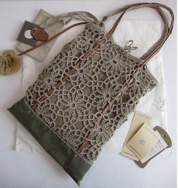 crochet e tecido