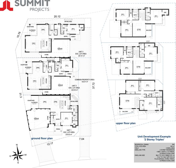 17 best images about block ideas on pinterest granny for Multi unit floor plans