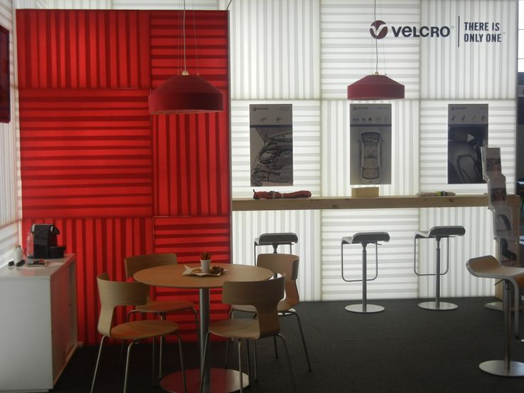 The ingenuity of VELCRO® brand products on display in the design of one of our trade booths.