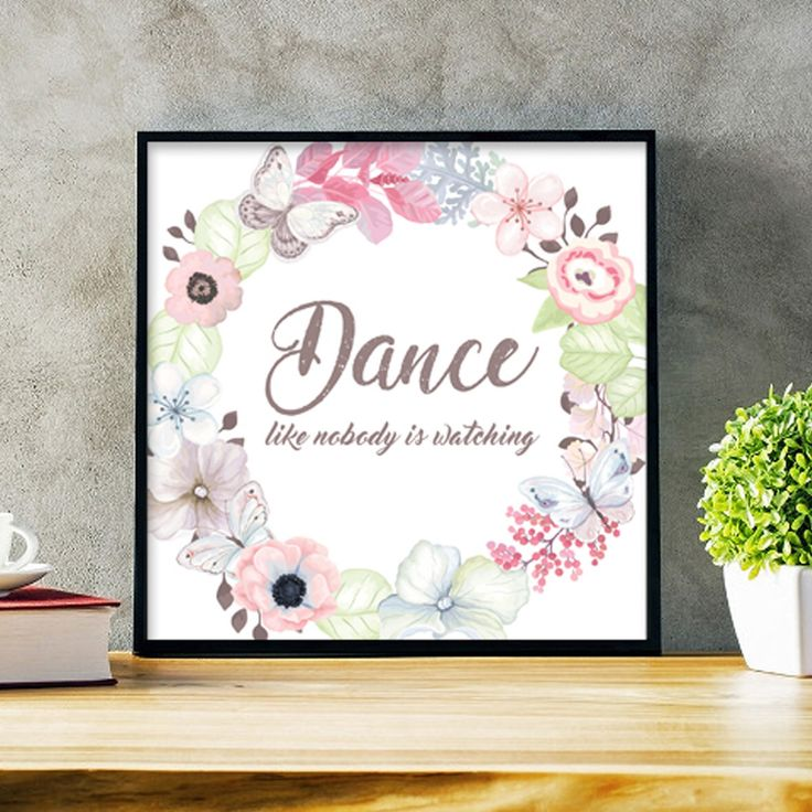 Un favorito personal de mi tienda de Etsy https://www.etsy.com/es/listing/554232255/dance-like-nobody-is-watching-quote