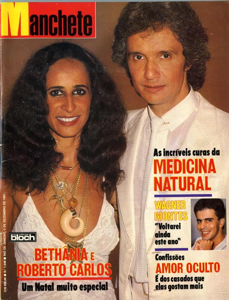 """Revista """"Manchete"""" - capa de no. 1546 de 1981 com Maria Bethânia e Roberto Carlos."""