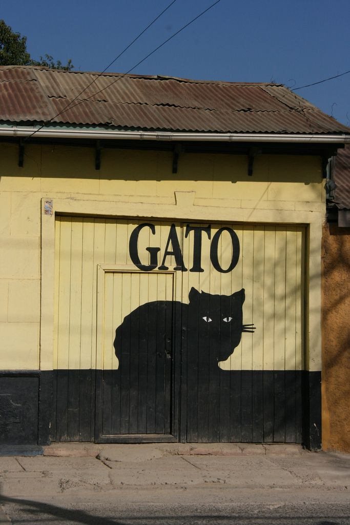 Black Cats ~ I want this painted on the side of my shed. en Chile, foto de Carlos Bryant
