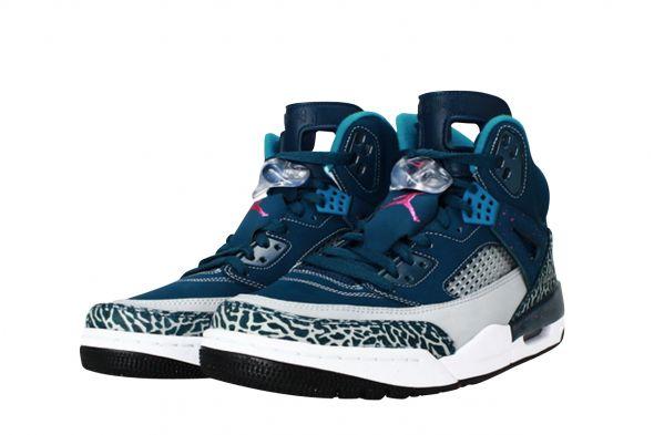 """Jordan Spizike """"Grey & Teal"""" 315371-407   Sneakers Online   Sneakerbaas"""