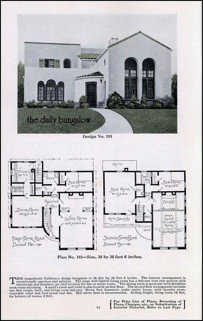 25 best ideas about bungalow house plans on pinterest for Spanish bungalow floor plans