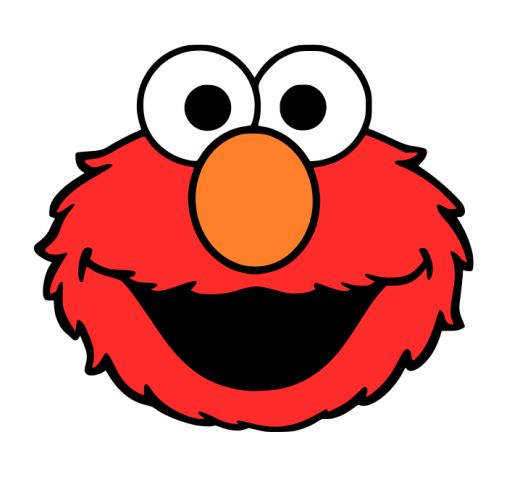 Crafting with meek elmo 39 s face svg silhouette for Printable elmo cake template