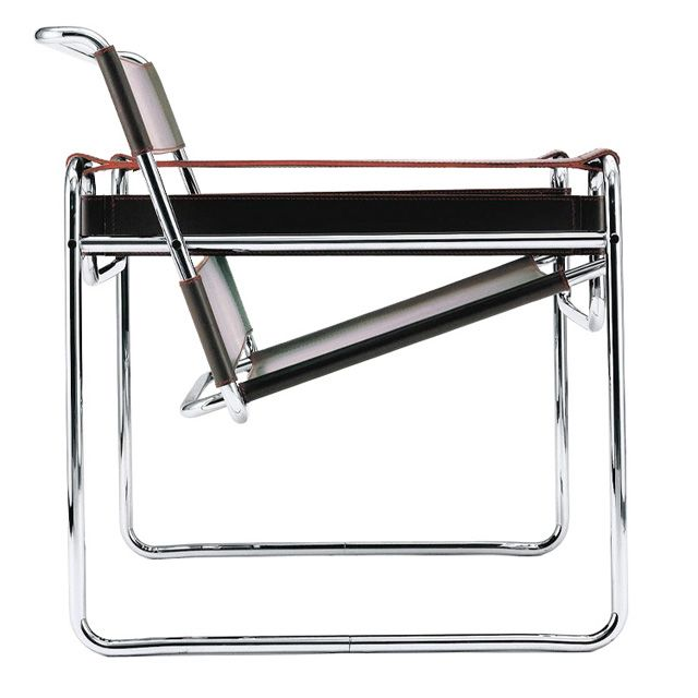 The Wassily Chair by Marcel Breuer. Designed in 1925 for the Bauhaus office of the painter Wassily Kandinsky.