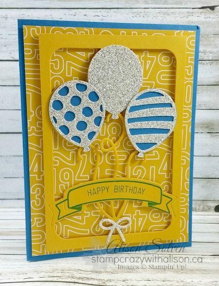 Balloon Adventures #stampinup www.stampcrazywithalison.ca