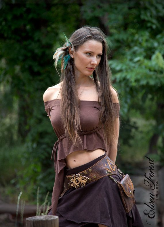 Asymetrical Elven Top  Sleeves as long as you want by ElvenForest, $38.00