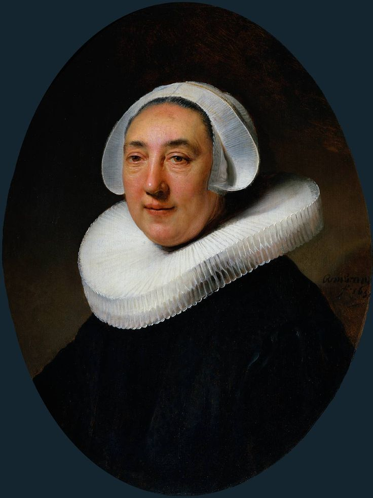 "Rembrandt (1606-1669)  Portrait of Haesje van Cleyburgh  Oil on panel  1634  53.4 x 68.6 cm  (21.02"" x 27.01"")  Rijksmuseum (Amsterdam, Netherlands)"
