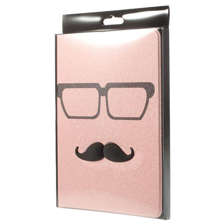 3D Smart Läderväska - iPad Mini, iPad Mini 2, iPad Mini 3 - Moustache