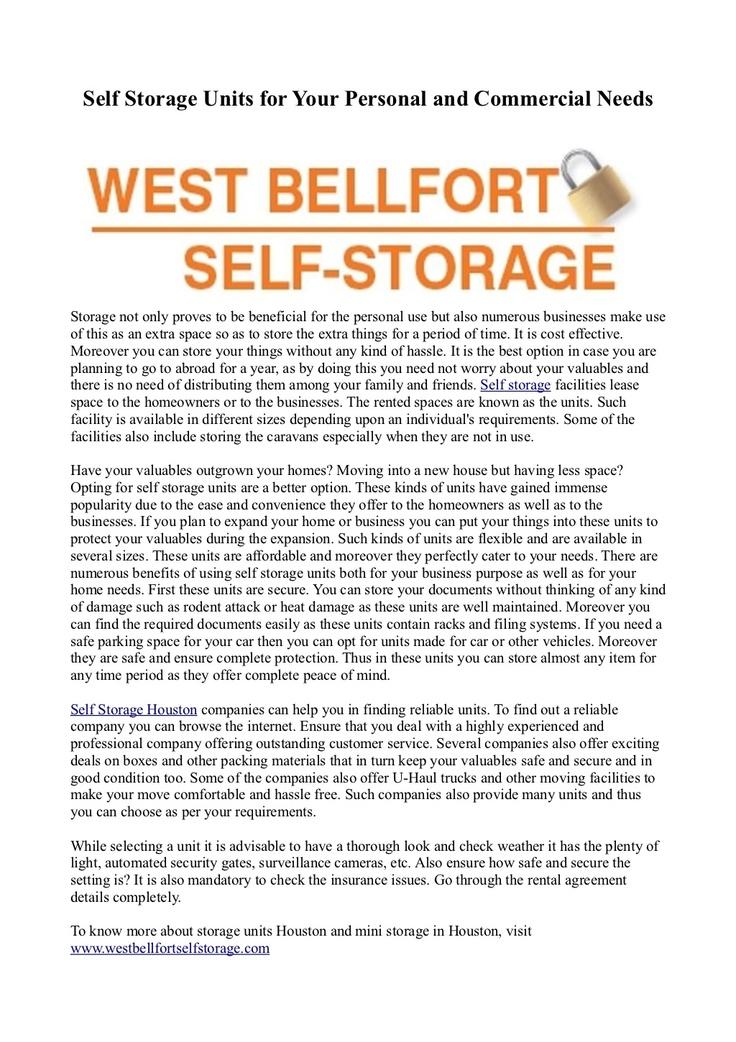 Best Self Storage Facilities Images On   Houston