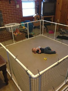 DIY Play Pen. Doing this for our camping trip!  I need this to keep people away from my bully dog...