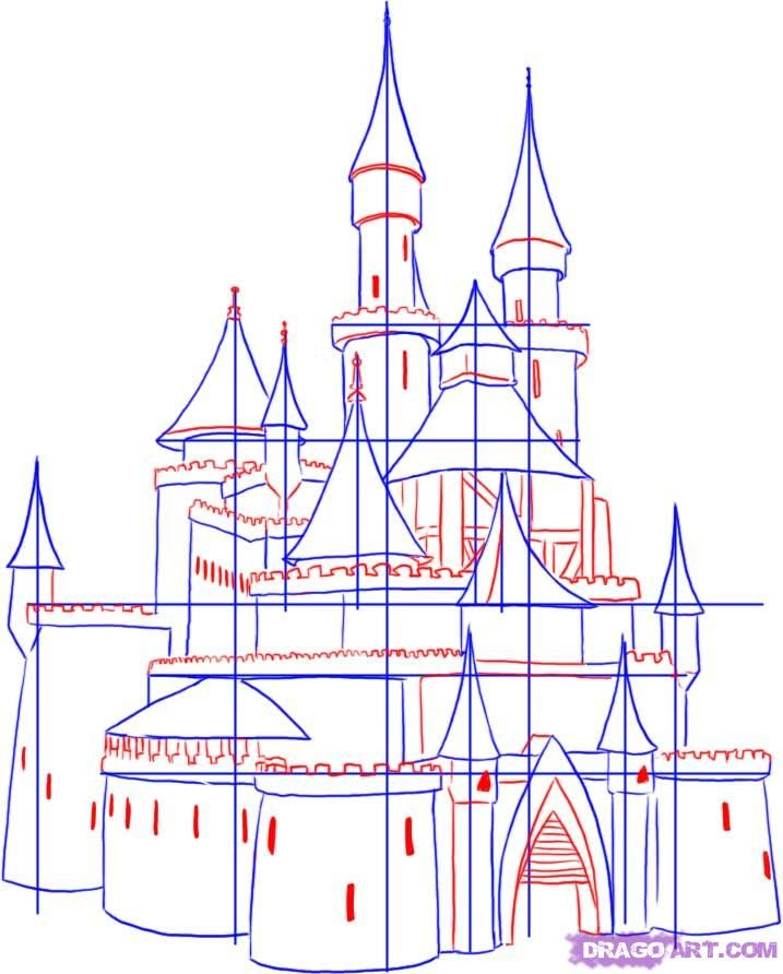 Step 3 How To Draw A Castle Castles Pinterest 25