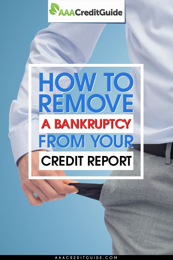 The truth about getting a bankruptcy removed from your credit report. Learn how I raised my credit score over 200 points.