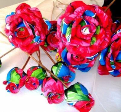 rosa em tecido flores para decoração chita,tecido,algodão recorte golfragem,impermeabilização