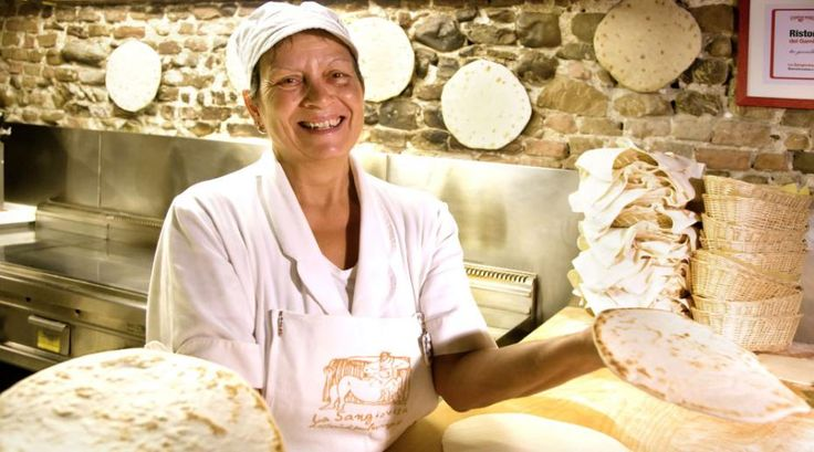 The Romagnoli people have been eating piada or piadina flat bread for centuries.
