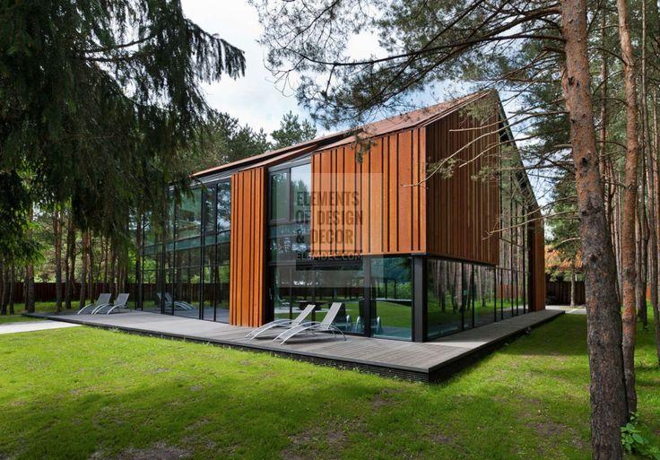 Ржавый металл на фасаде | Оригинальные архитектурные и интерьерные решения