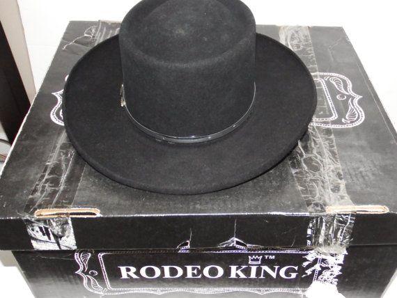 rodeo king hat  rodeo hat  black hat  vintage hats