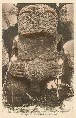 C1910 Marquesas Islands Postcard Pagan Idol Native French Polynesia Oceania | eBay
