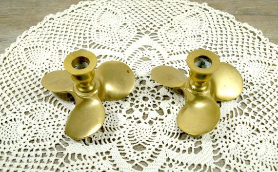 Vintage Candle Holders Vintage Candlesticks by DKVINTAGEGALLERY