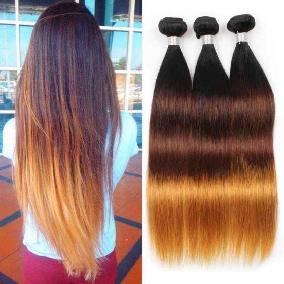 10A Virgin Brazilian Hair Brazilian Straight Ombre Human Hair Extensions 10Bundles Wholesale Hair Extensions