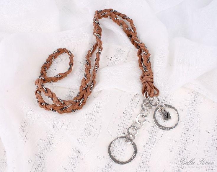 Kožený náhrdelník - hnědý | Bella Rose