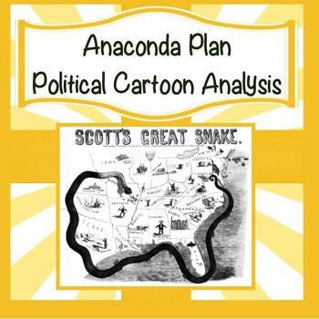 Political Cartoon Analysis Activity: Civil War Anaconda Plan