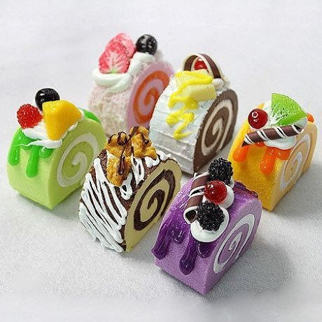 Colorful cake roll - these are adorable!   from topcreativeproducts.com