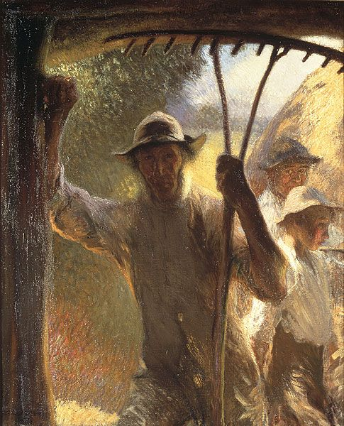 """George Clausen  """"The haymakers"""": Clausen England, Artists Mindfulness, Haymak George Clausen, Art Collection, Visual Art, Art Sir George, British Painters, Sir George Clauson, Art Figurativa"""