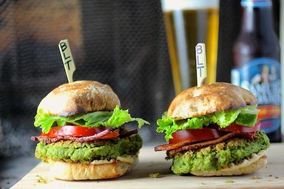 Swiss Chard Falafel Burger @FoodBlogs