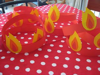 good pentecost craft...Joyful Mama's Place...: This is how we celebrate - Pentecost 2011