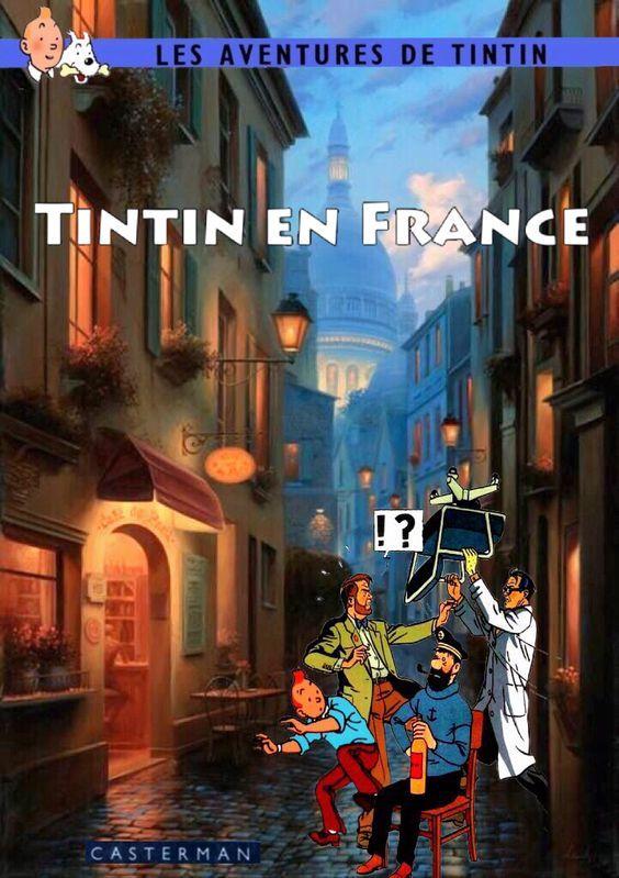 Les Aventures de Tintin - Album Imaginaire - Tintin en France