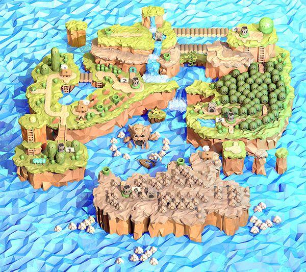 Super Mario World Map made by Steph Caskenette   Super Mario   Super