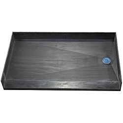 Tile Ready Shower Pan 34 x 60 Right Barrier Free PVC Drain