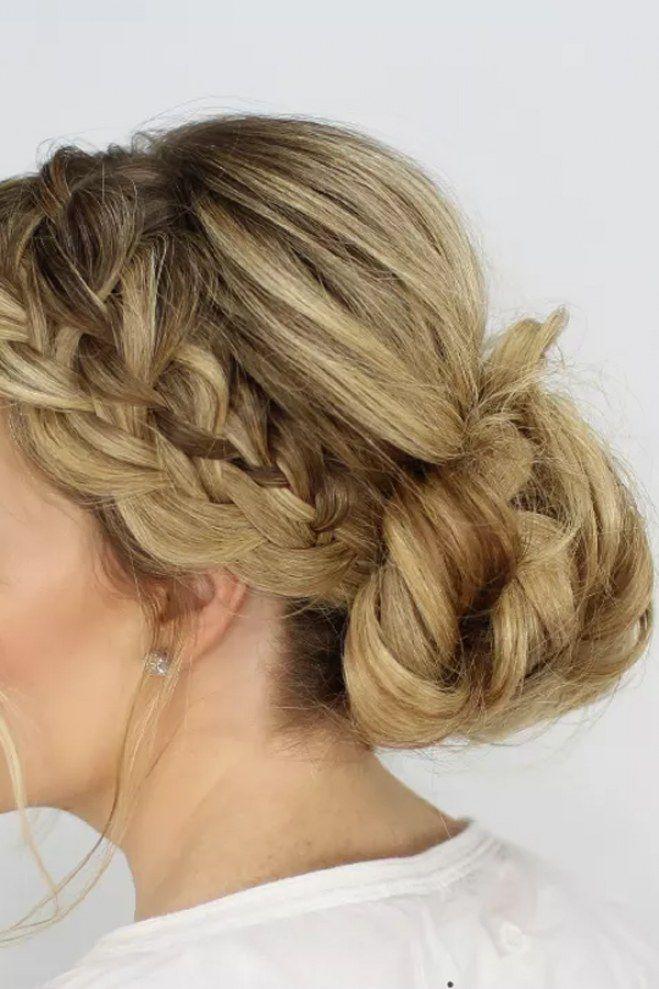 Les 10 meilleures id es de la cat gorie tutoriel de couronne tress e sur pinterest coiffures - Coiffure couronne tressee ...